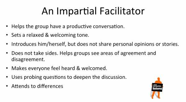 The essential characteristics of impartial facilitation.